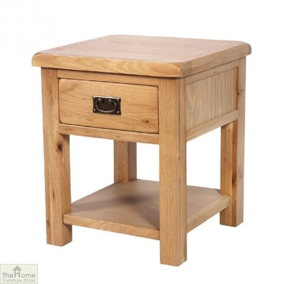 Farmhouse 1 Drawer Lamp Table