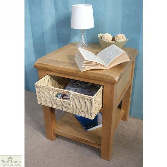 Pembury Oak 1 Drawer Lamp Table_4