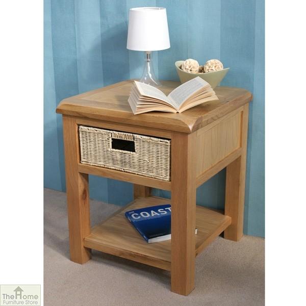 Pembury Oak 1 Drawer Lamp Table_3