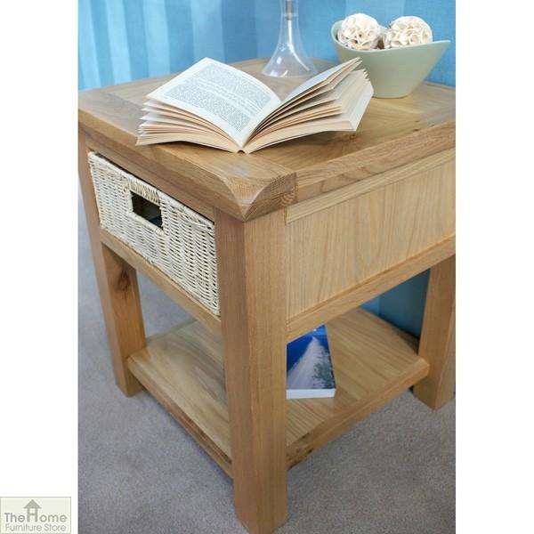 Pembury Oak 1 Drawer Lamp Table_5