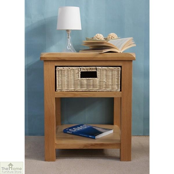 Pembury Oak 1 Drawer Lamp Table_1