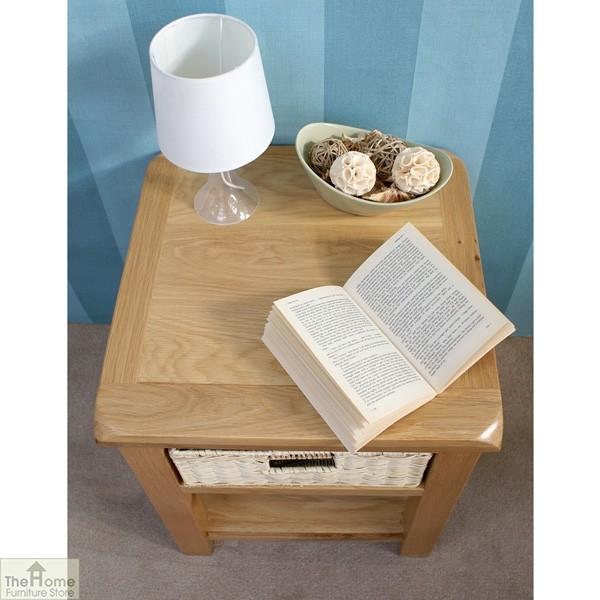Pembury Oak 1 Drawer Lamp Table_7