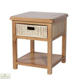 Pembury Oak 1 Drawer Lamp Table