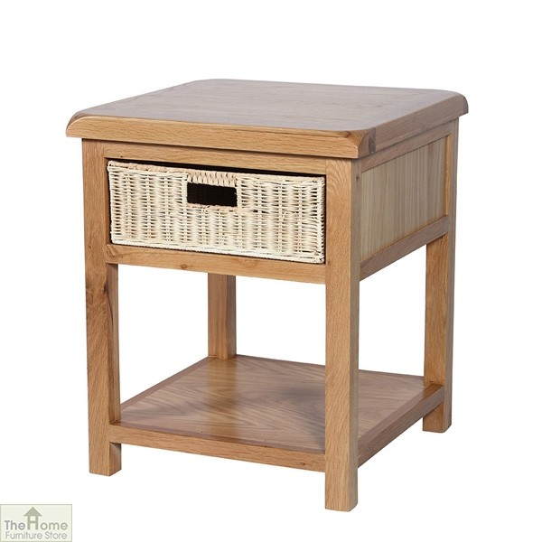 Pembury Oak 1 Drawer Lamp Table
