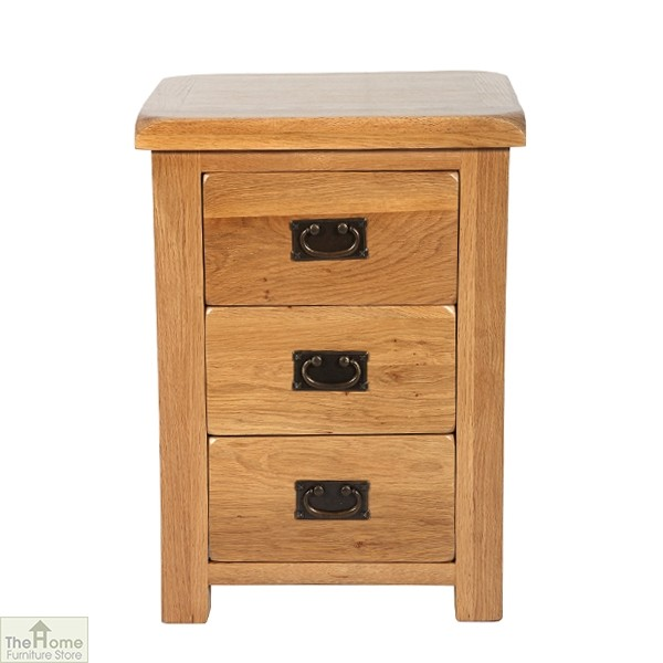 Farmhouse 3 Drawer Bedside Cabinet