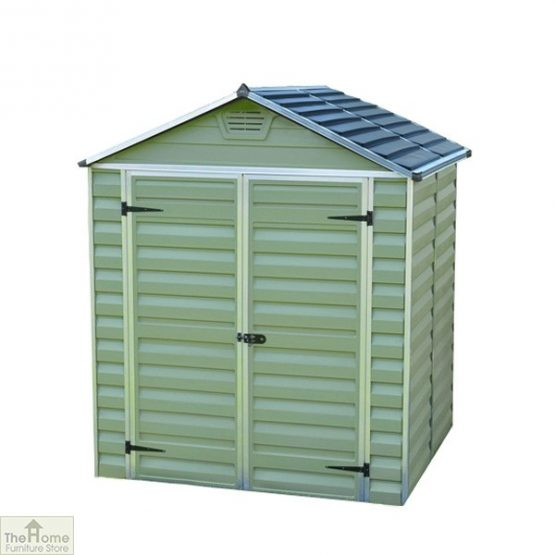 Green 8 x 6 Plastic Shed