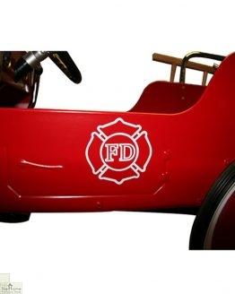 Red Pedal Fire Engine Ride On Toy_1