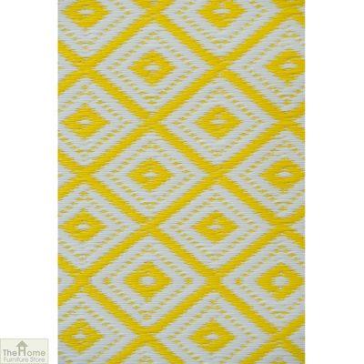 Eco-Friendly Reversible Yellow Rug_4