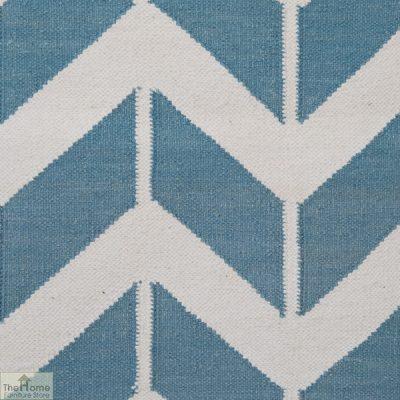 Light Blue Patterned Reversible Rug_3
