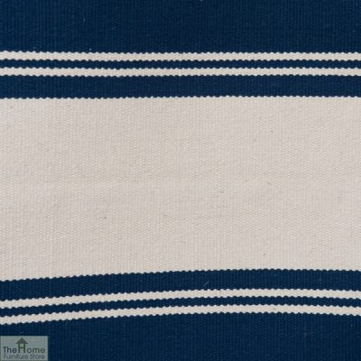 Cotton Patterned Reversible Blue Rug_2