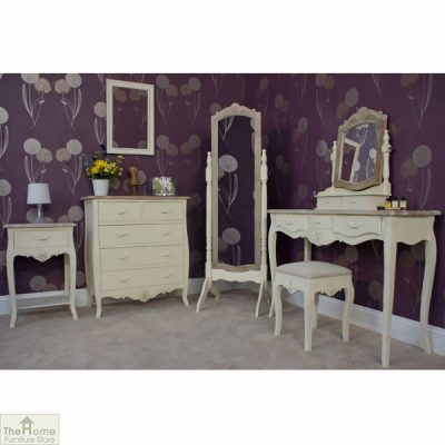Devon Shabby Chic 3 Drawer Console Table_6