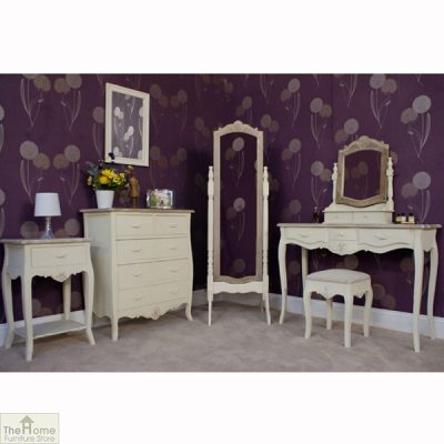 Devon Shabby Chic 3 Drawer Console Table_7