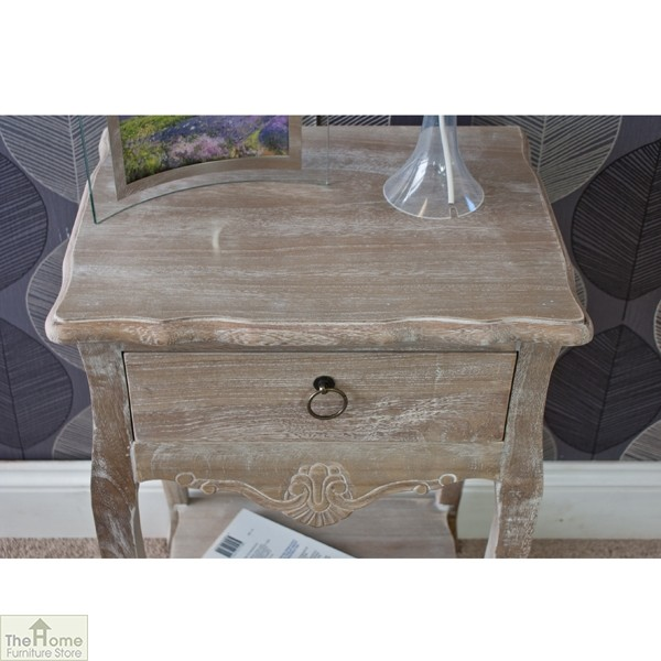 Casamoré Bordeaux 1 drawer lamp table_6