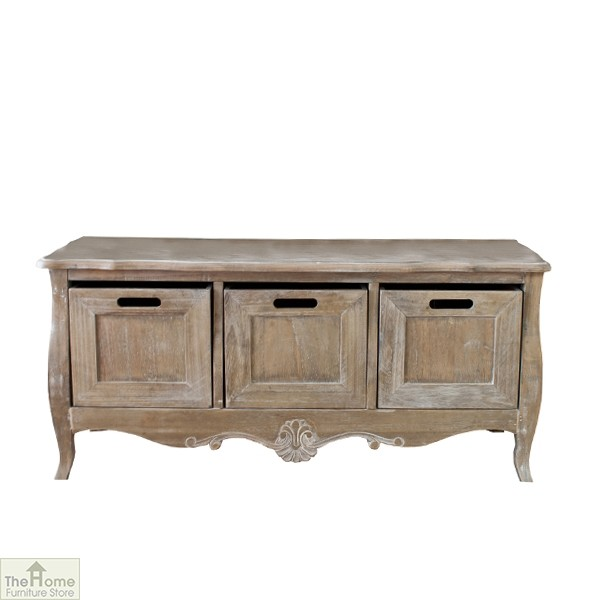 Bordeaux 3 Drawer Storage Bench