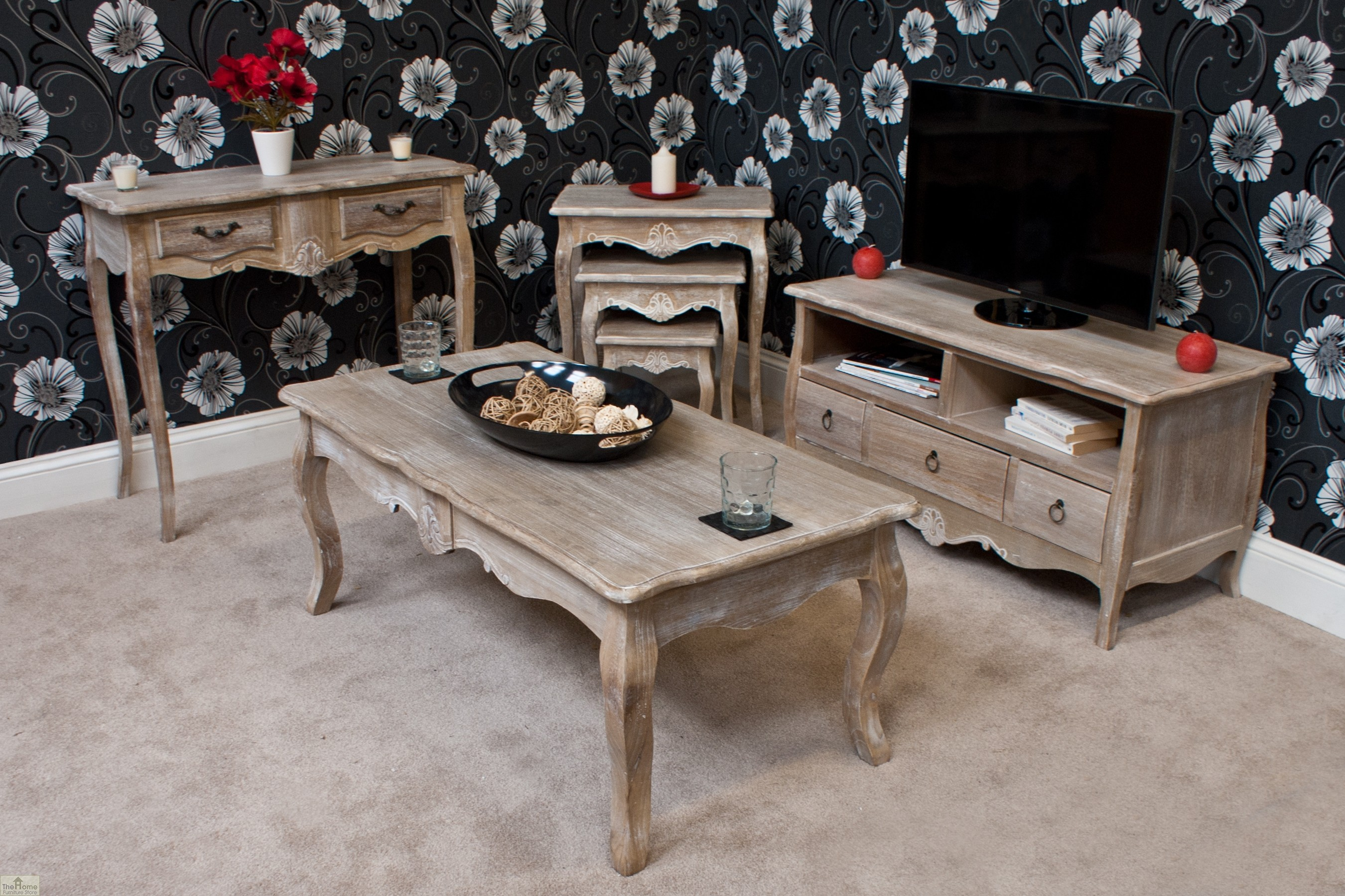 Casamor bordeaux nest 3 tables the home furniture store Home furniture outlet uk