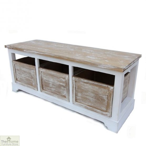 Cotswold 3 Seat Storage Bench
