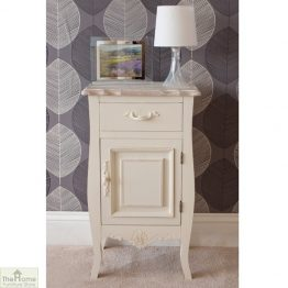 Devon Shabby Chic Bedside Table 1 Door 1 Drawer_1