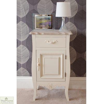 Devon Shabby Chic Bedside Table 1 Door 1 Drawer_1