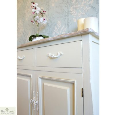 Devon Shabby Chic 2 Drawer 2 Door Sideboard_4