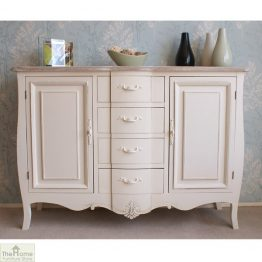 Devon Shabby Chic 4 Drawer 2 Door Sideboard_1