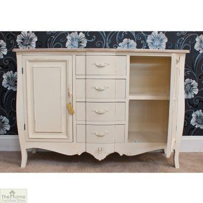 Devon Shabby Chic 4 Drawer 2 Door Sideboard_3