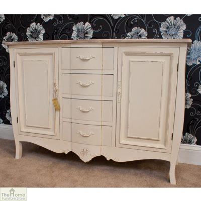 Devon Shabby Chic 4 Drawer 2 Door Sideboard_2