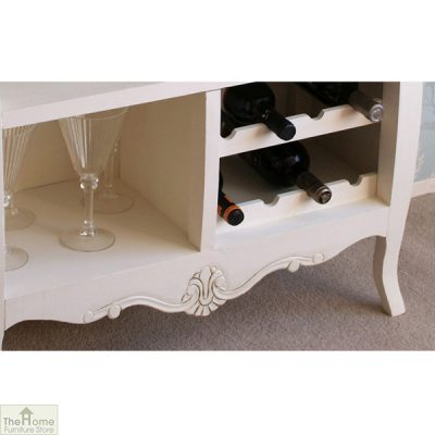 Devon Shabby Chic 2 Drawer 2 Shelf Wine Rack_2