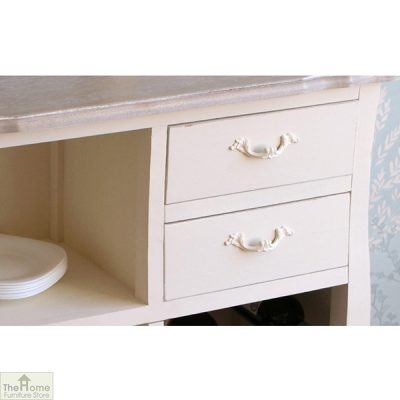 Devon Shabby Chic 2 Drawer 2 Shelf Wine Rack_3