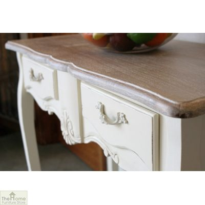 Devon Shabby Chic 2 Drawer Console Table_2