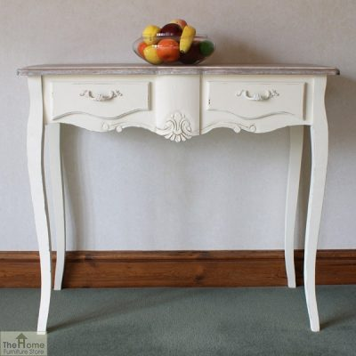 Devon Shabby Chic 2 Drawer Console Table_1