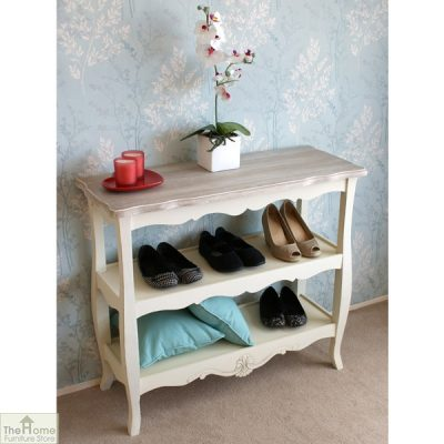 Devon Shabby Chic 2 Shelf Console Table_2