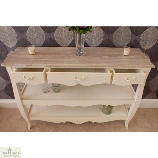 Devon 3 Drawer 2 Shelf Console Table_4