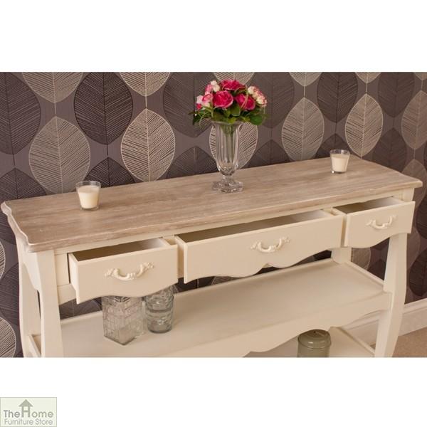 Devon 3 Drawer 2 Shelf Console Table_6