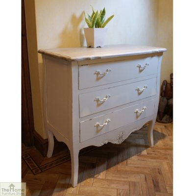 Devon Shabby Chic Chest Of Drawers 3 Drawer_1