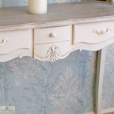 Devon Shabby Chic 3 Drawer Console Table_5