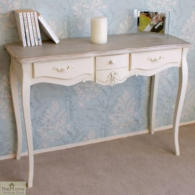 Devon Shabby Chic 3 Drawer Console Table_2
