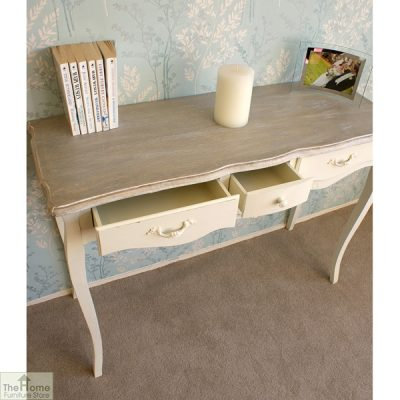 Devon Shabby Chic 3 Drawer Console Table_3