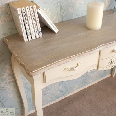 Devon Shabby Chic 3 Drawer Console Table_4