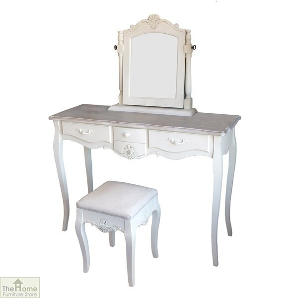 Casamor devon 3 drawer dressing table set the home for Home furniture dressing table