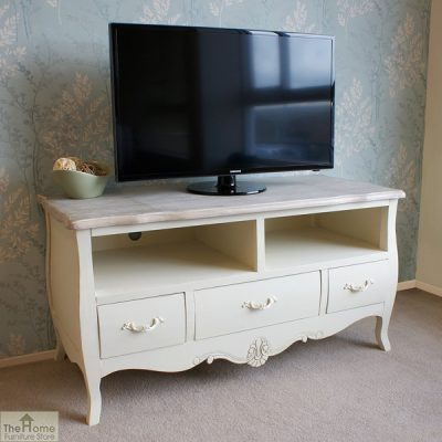 Devon Shabby Chic 3 Drawer 2 Shelf TV Unit_1