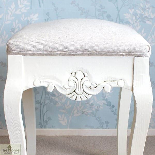 Devon Dressing Table Stool White Finish_3
