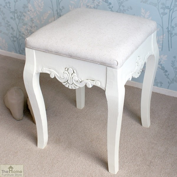 Devon Dressing Table Stool White Finish_2