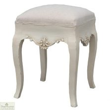 Devon Dressing Table Stool White Finish