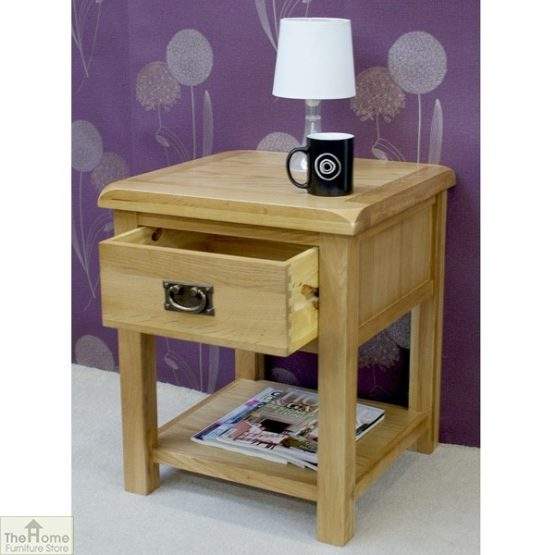 Farmhouse 1 Drawer Lamp Table_3
