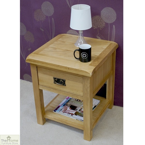 Farmhouse Kitchen Table With Drawers: Farmhouse 1 Drawer Lamp Table