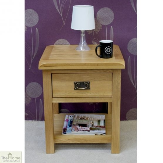 Farmhouse 1 Drawer Lamp Table_1