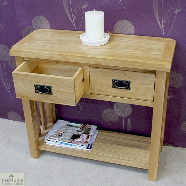 Farmhouse 2 drawer console table the home furniture store Home furniture outlet uk