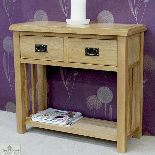 Farmhouse 2 Drawer Console Table_2