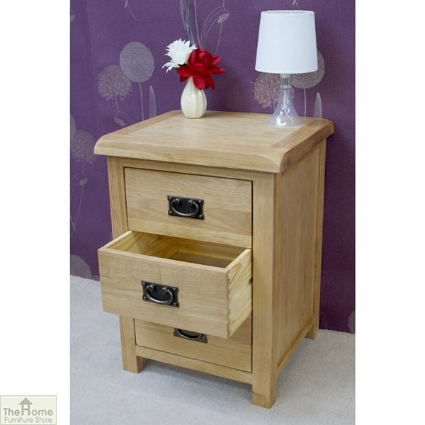 Farmhouse 3 Drawer Bedside Cabinet_4
