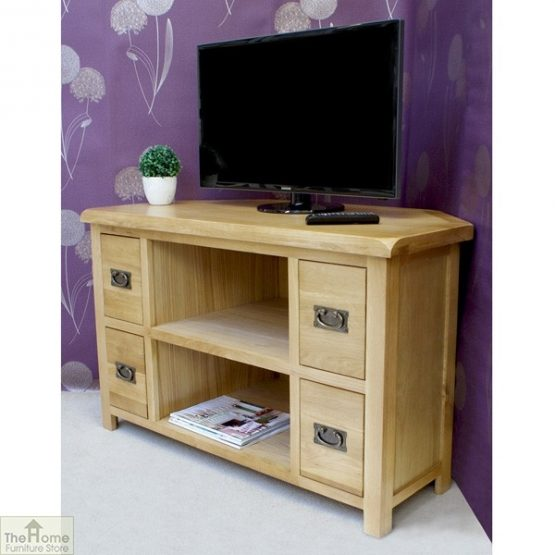 Farmhouse Corner TV Entertainment Unit_2